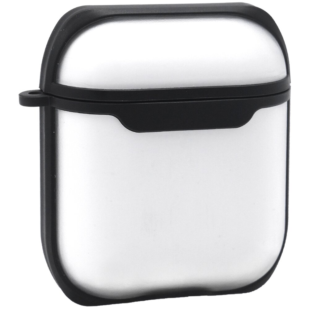 Eggshell Airpods Case 1/2 — PC With Sensitive Button (Black)