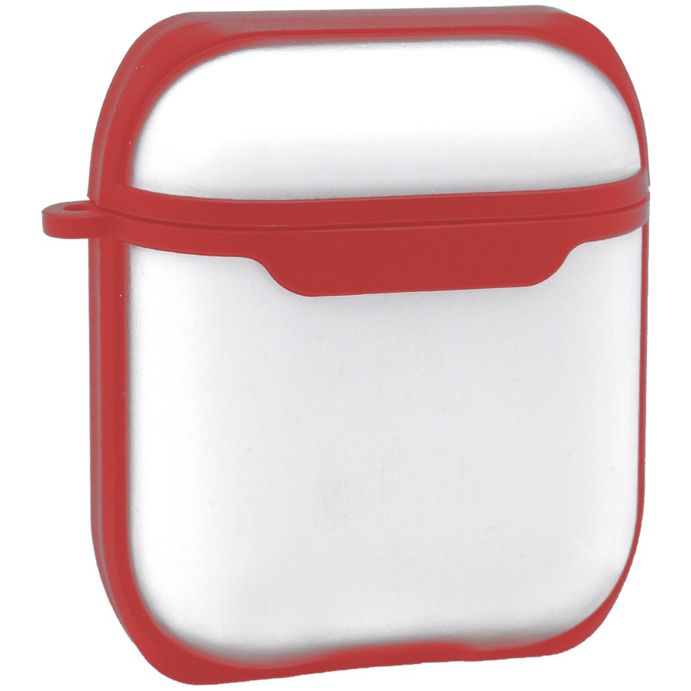 Eggshell Airpods Case 1/2 — PC With Sensitive Button (Red)