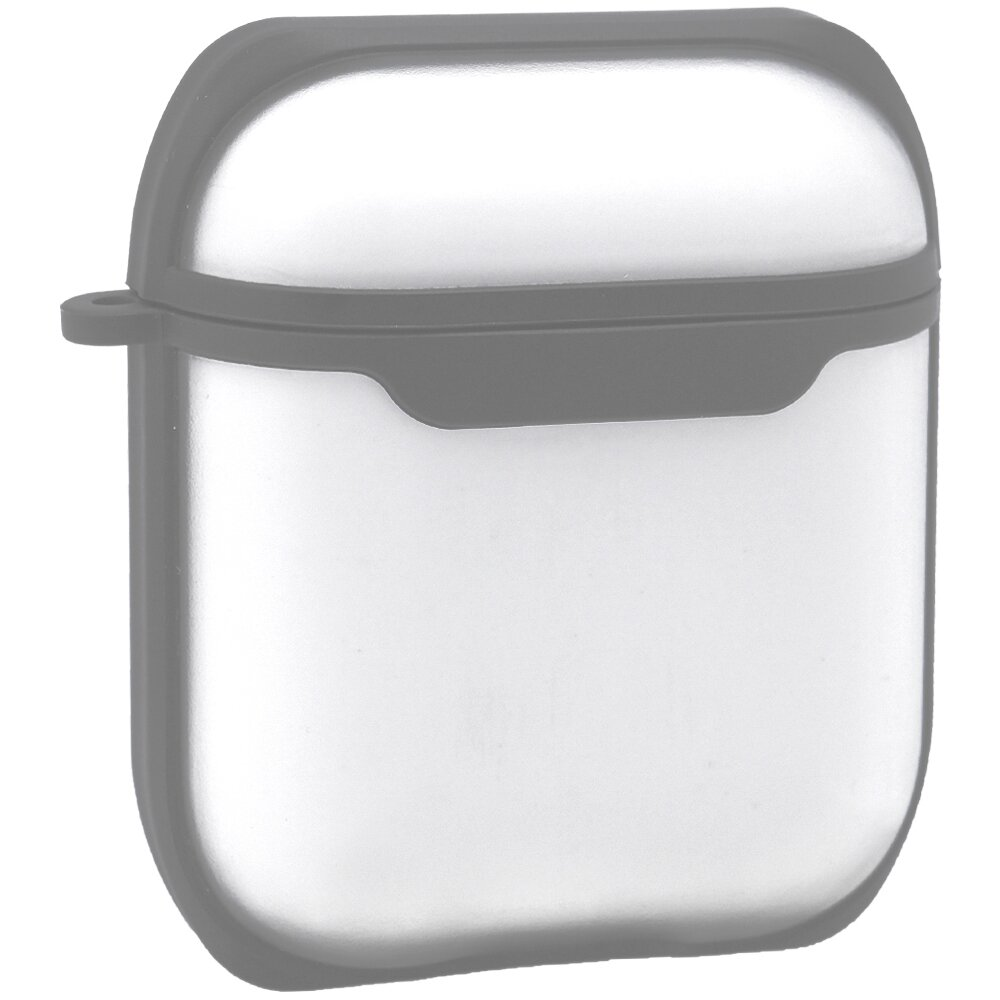 Eggshell Airpods Case 1/2 — PC With Sensitive Button (Gray)